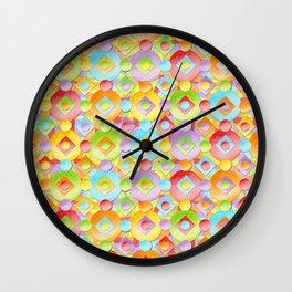 Rainbow Confection Wall Clock