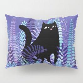 The Ferns (Black Cat Version) Pillow Sham