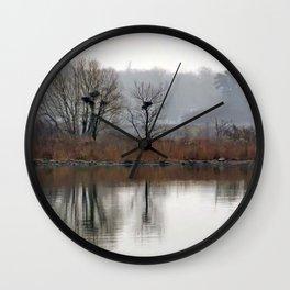 Heron Rookery Wall Clock
