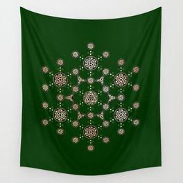 molecule of life. sacred geometry. alien crop circle Wall Tapestry