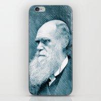 darwin iPhone & iPod Skins featuring Charles Darwin by Zandonai