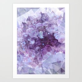 Crystal Gemstone Art Print