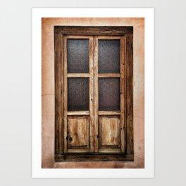 Eronga Warm Window Art Print
