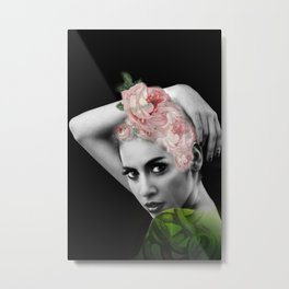 Head Full Of Roses Metal Print