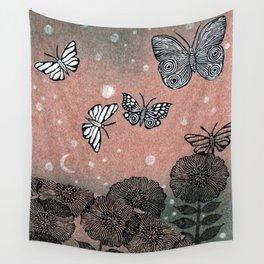 Night Garden (2) Wall Tapestry