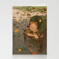 bouletcorp Stationery Cards featuring La rivière aux tortues by Bouletcorp