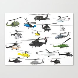 Multiple Helicopters Canvas Print