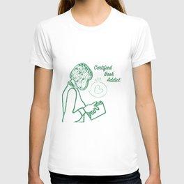 Certified Book Addict T-shirt