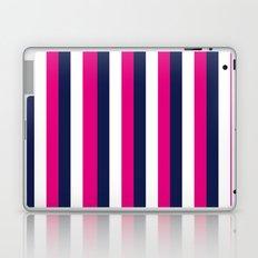 Stripes - Navy, White, Pink Laptop & iPad Skin