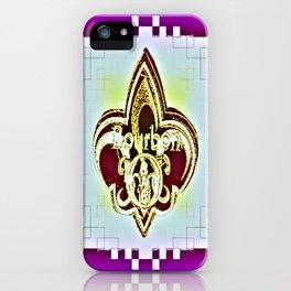 Fleur De Lis Purple  iPhone Case