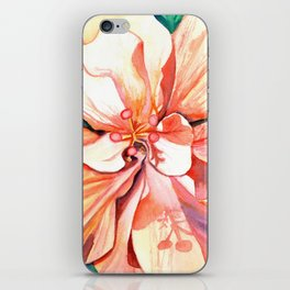 Double Peach Tropical Hibiscus iPhone Skin