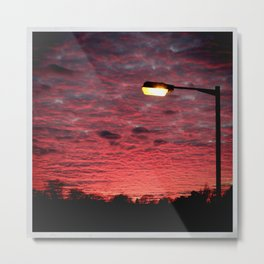 British Winter Sunset Metal Print