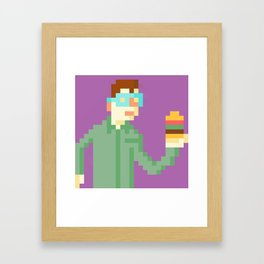 Hamburger time! Framed Art Print