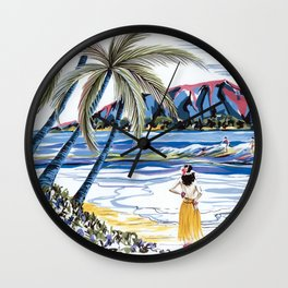 Hawaiian Holiday Wall Clock