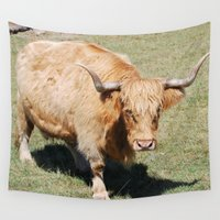 pit bull Wall Tapestries featuring Bull by Sarah Shanely Photography