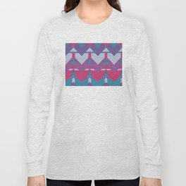 Cool Waves #society6 #violet #pattern Long Sleeve T-shirt