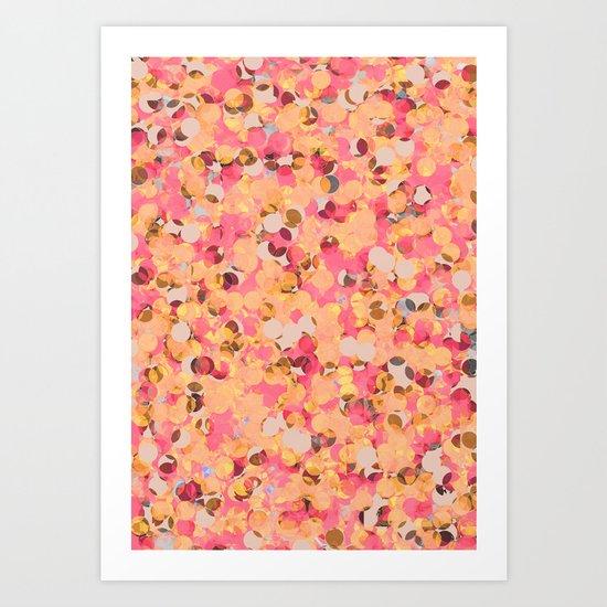 Abstract Pattern - Peach & Pink Art Print