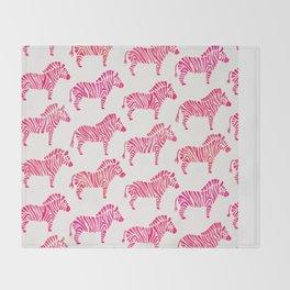 Zebras – Pink Palette Throw Blanket
