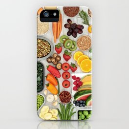 fruits and veggies iPhone Case