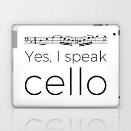 I speak cello Laptop & iPad Skin