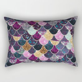 REALLY MERMAID - JEWEL SCALES Rectangular Pillow