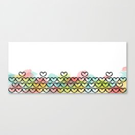 Watercolour Heart Canvas Print