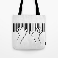 Barcode pianist Tote Bag