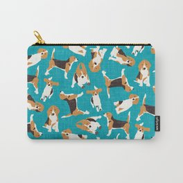 beagle scatter blue Carry-All Pouch