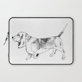 Basset Hound Ink Drawing Laptop Sleeve