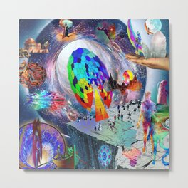 'Quantum Time Travelling, Time Warping & Teleportation' Metal Print