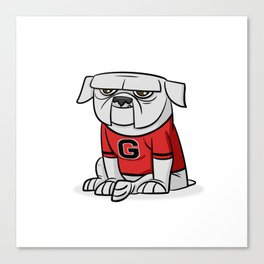Bulldog from Georgia Canvas Print