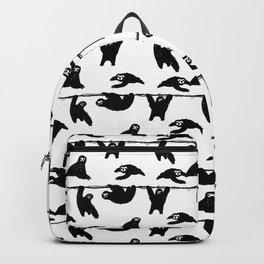 sloths pattern bw Backpack