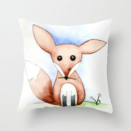 Whimsical Fox Throw Pillow