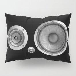 Subwoofer Speaker on black Pillow Sham
