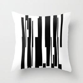 Organic No. 18 Black & White Graphic Art #minimalism #decor #society6 Throw Pillow