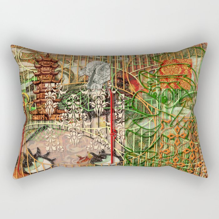 The Interlocking Mechanism of Compartmentalization Rectangular Pillow