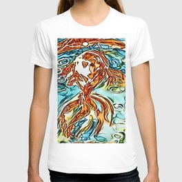 Bubbly Goldfish watercolor by CheyAnne Sexton T-shirt