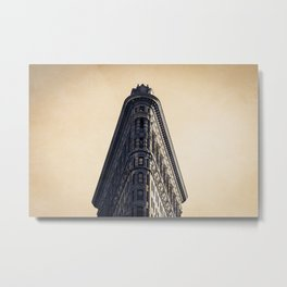 New York Architecture Flatiron Building  Photography Metal Print