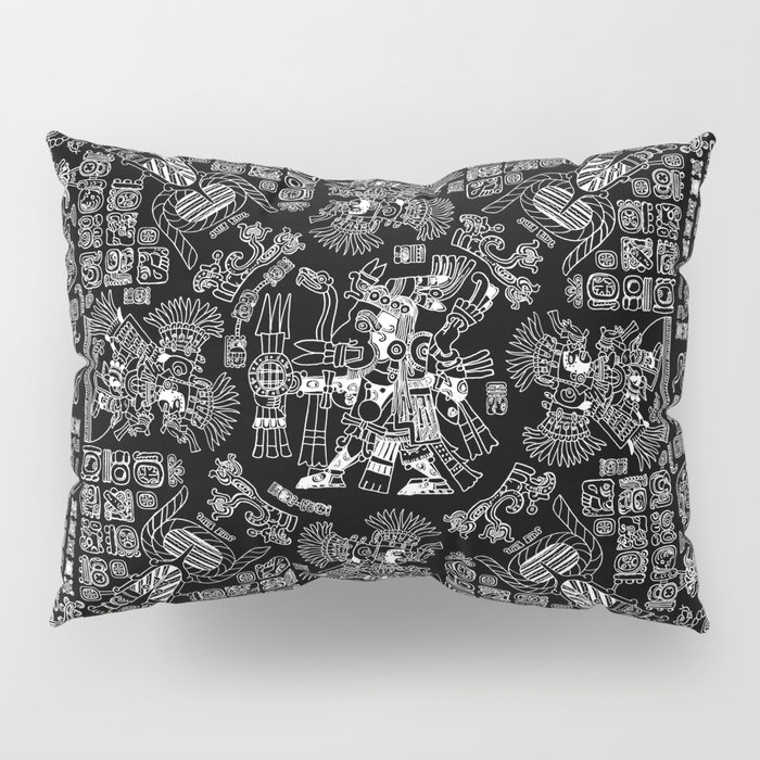 Mayan Spring B&W II Pillow Sham