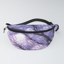 Periwinkle Lavender Flower Tree Fanny Pack