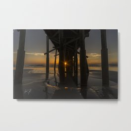 Peekabo Pier Sunrise Flagler Beach, Florida Metal Print