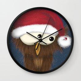 Sam the Festive Owl Wall Clock