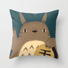 lucky forest spirit Throw Pillow