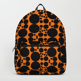 Black & orange circles Backpack