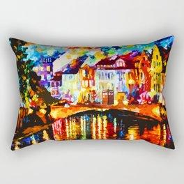 Tardis Art At The Bridge Rectangular Pillow