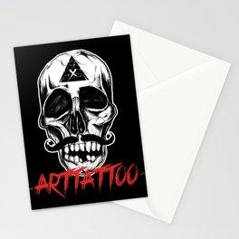 Skull Arttattoo Stationery Cards