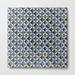 Retro Box Star Pattern Metal Print
