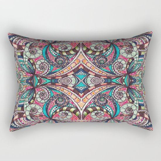 Drawing Floral Zentangle G237 Rectangular Pillow
