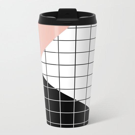 Minimal Geometry Metal Travel Mug