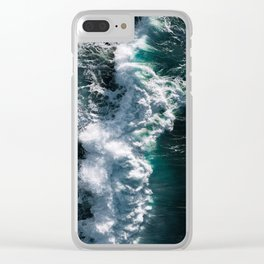 Crashing ocean waves - Ireland's seascapes at sunset Clear iPhone Case